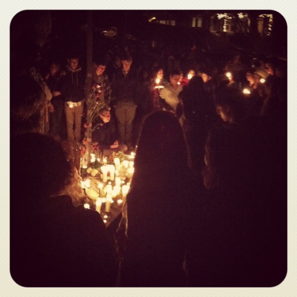 Please Drive Slow on Marin: Tonight's Vigil Brought Many but Some Cars Still Didn't Slow Down