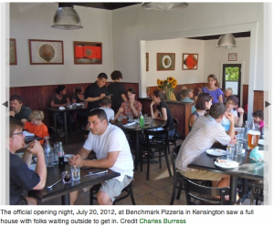 thumbnail for Benchmark Pizza opens in Kensington